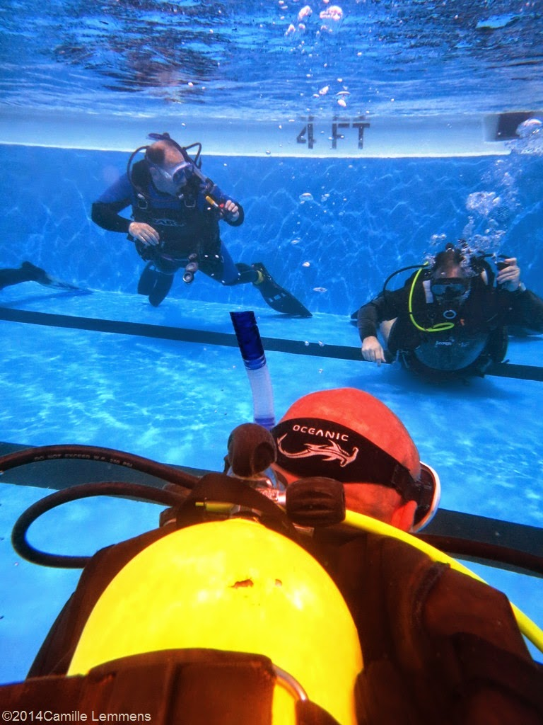 PADI IDC, confined water, supervision