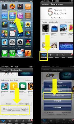 Como sair da conta iTunes em iPhone