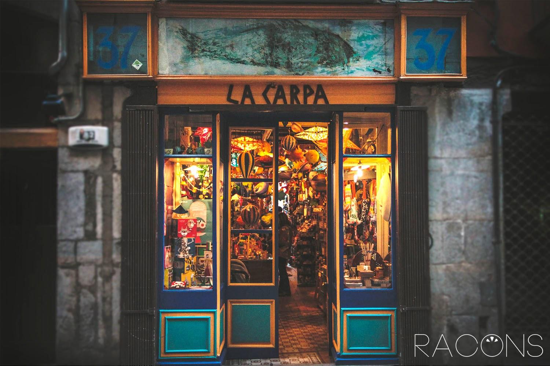 Entrada Botiga La carpa Girona