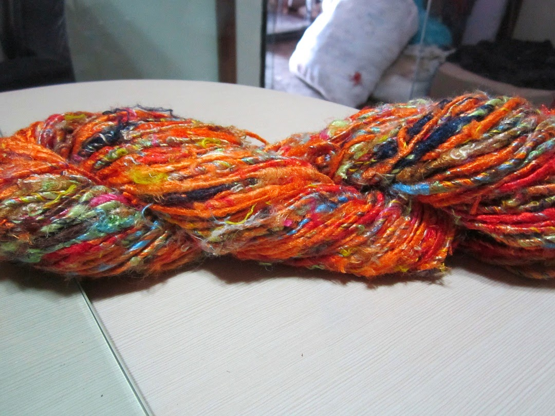 handspun saree silk yarn