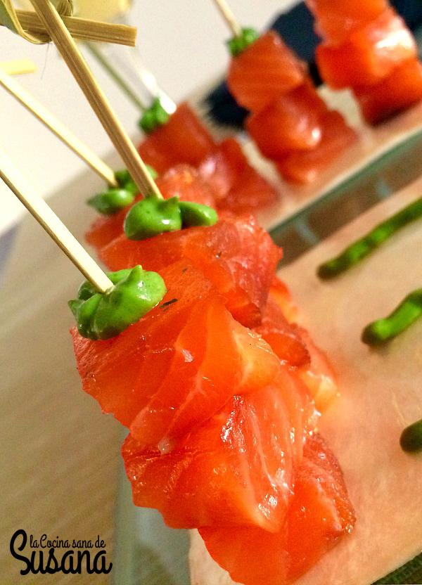 Aperitivo saludable de salmón marinado o cómo hacer un falso salmón ahumado