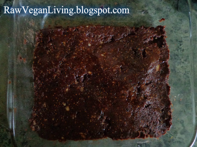 raw real brownies