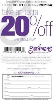 Gordmans printable coupons may 2018