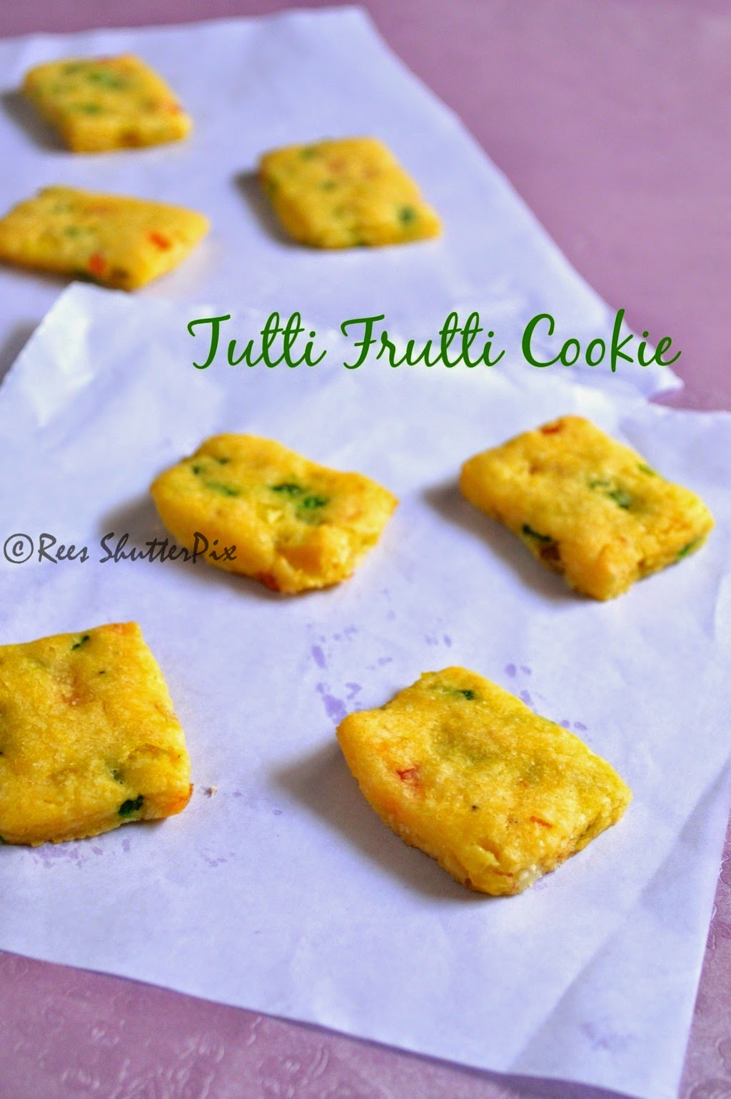 Cookie Recipe, Eggless Baking, Tutti Frutti Cookies Recipe, how to make tutti frutti cookies, easy cookie recipe, step wise pictures