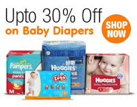 Diapers upto 30% off at Amazon India
