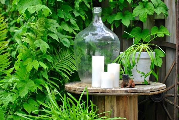 kabeltrumma flameless candles humle trädgård damejeanne