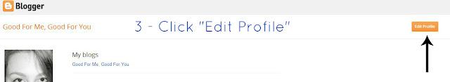 Click the edit profile button