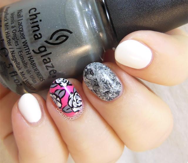 saran wrap composite manicure