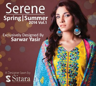 Sitara Serene Lawn S/S Collection 2014 Vol-1