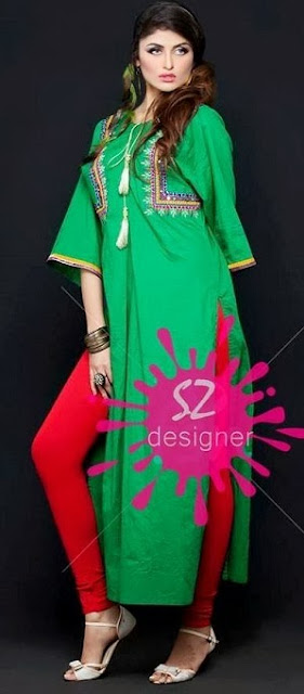 S-Zee Designer Clothing New Casual Wear Dresses Collection 2013-2014 For Women And Girls Fashion