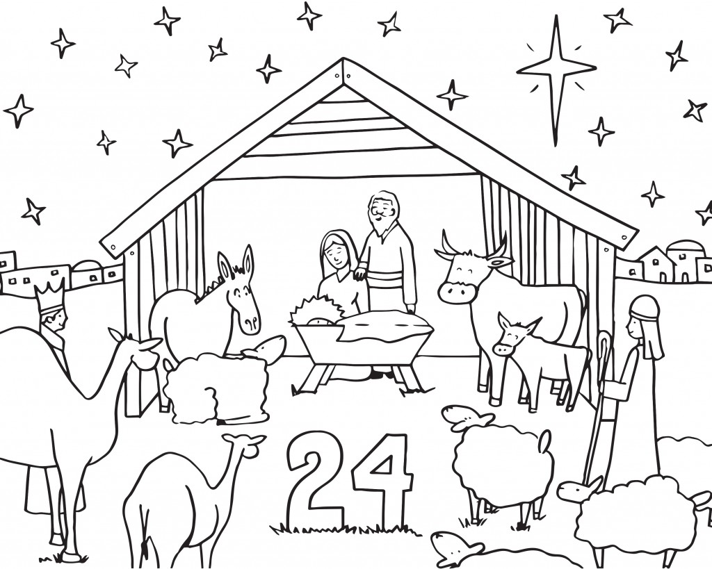 Love home family adventi sz nez 24 nap for Children s advent coloring pages