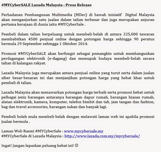 #MyCyberSale Lazada 2014