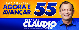 """PARA PREFEITO EM SÃO BENTO DO NORTE/RN VOTE CLAUDIO HENRIQUE """"55  - CASA ARRUMADA AGORA É AVANÇAR!"""