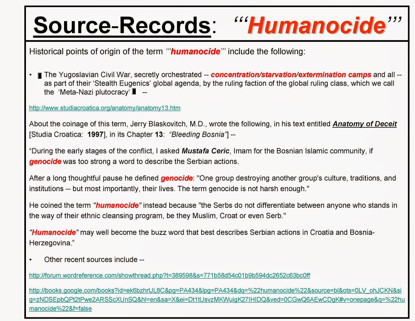 F.E.D. Dialectics: \'\'\'HUMANOCIDE\'\'\' -- The Encyclopedia Dialectica ...