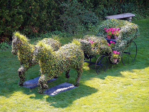 Красивые поделки из цветов в саду
