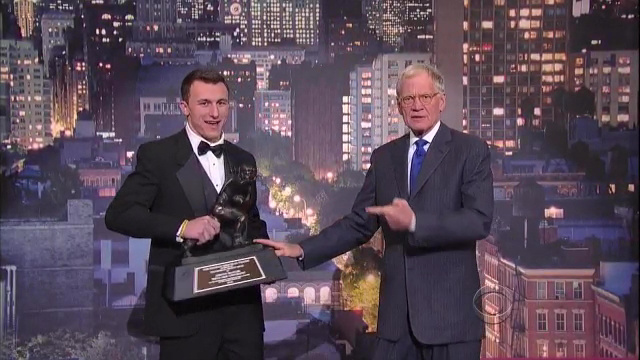 Johnny Manziel does Late Show with David Letterman.