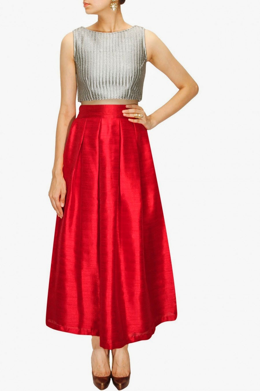 Long Silk Skirts Online