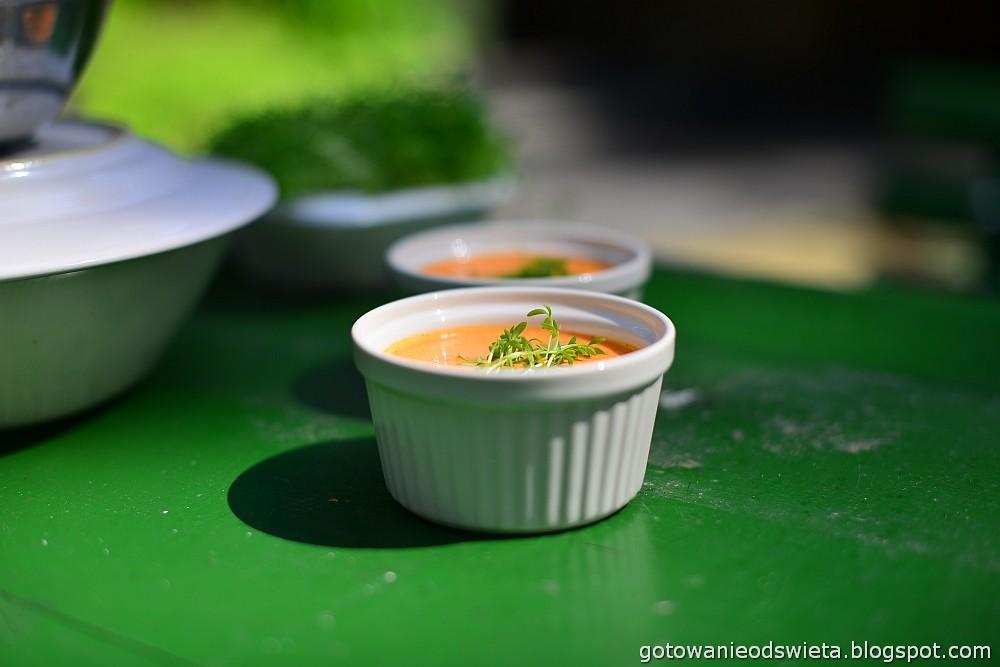 Zupa krem z papryki z imbirem