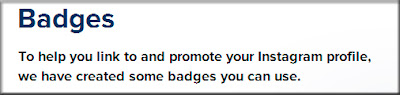 Il badge di Instagram per il blog