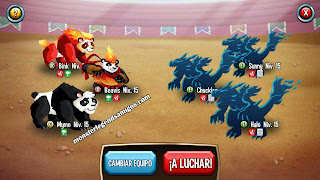 imagen de la primera batalla del challenge battle de monster legends ios 1