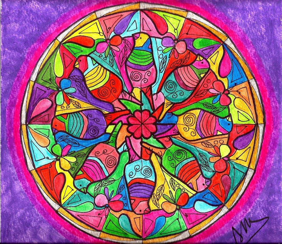 adriana azzolina pinturas mandala de p jaros