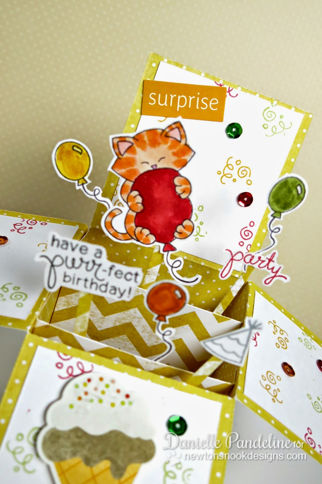 3D Birthday Card | Featuring Newton's Nook Designs | Created by Danielle Pandeline