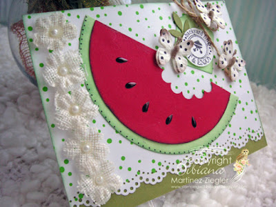 watermelon card side view