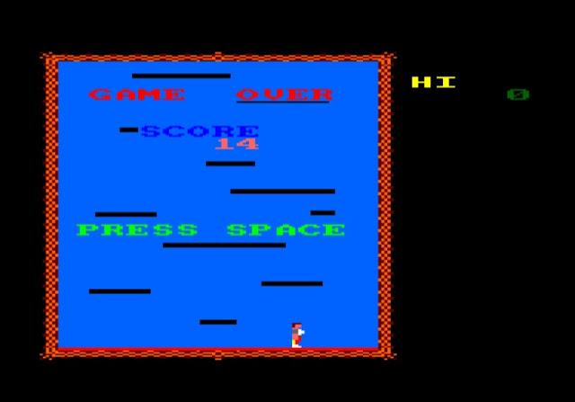 Platform Climber, juego para Amstrad CPC que nos muestra las bondades de CPCtelera