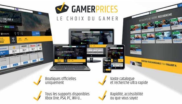 Gamerprices, le 1er comparateur de prix français de jeux vidéo