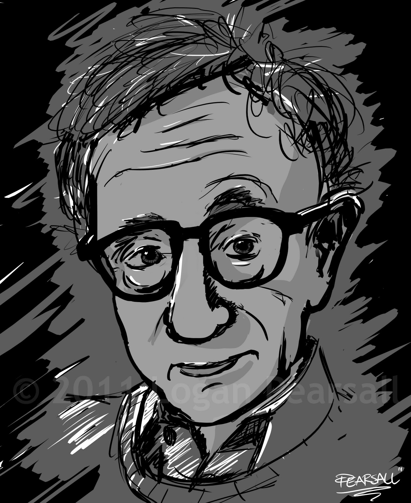 Woody Allen Drawing Woody Allen