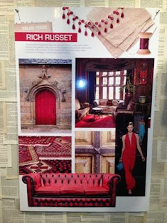 russet, red, color trends, Showtime