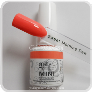 Gelish Swatch Sweet Morning Dew