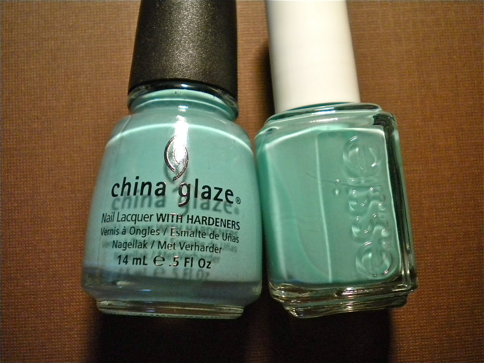 China Glaze - For Audrey & Essie - Turquoise & Caicos Comparison ...