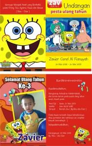 Undangan Ulang tahun anak Sponge Bob