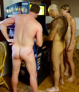 Nude Galaga video game