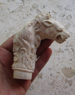 Cougar Horse Bear Raven Eagle Etc Handle Carving in Antler