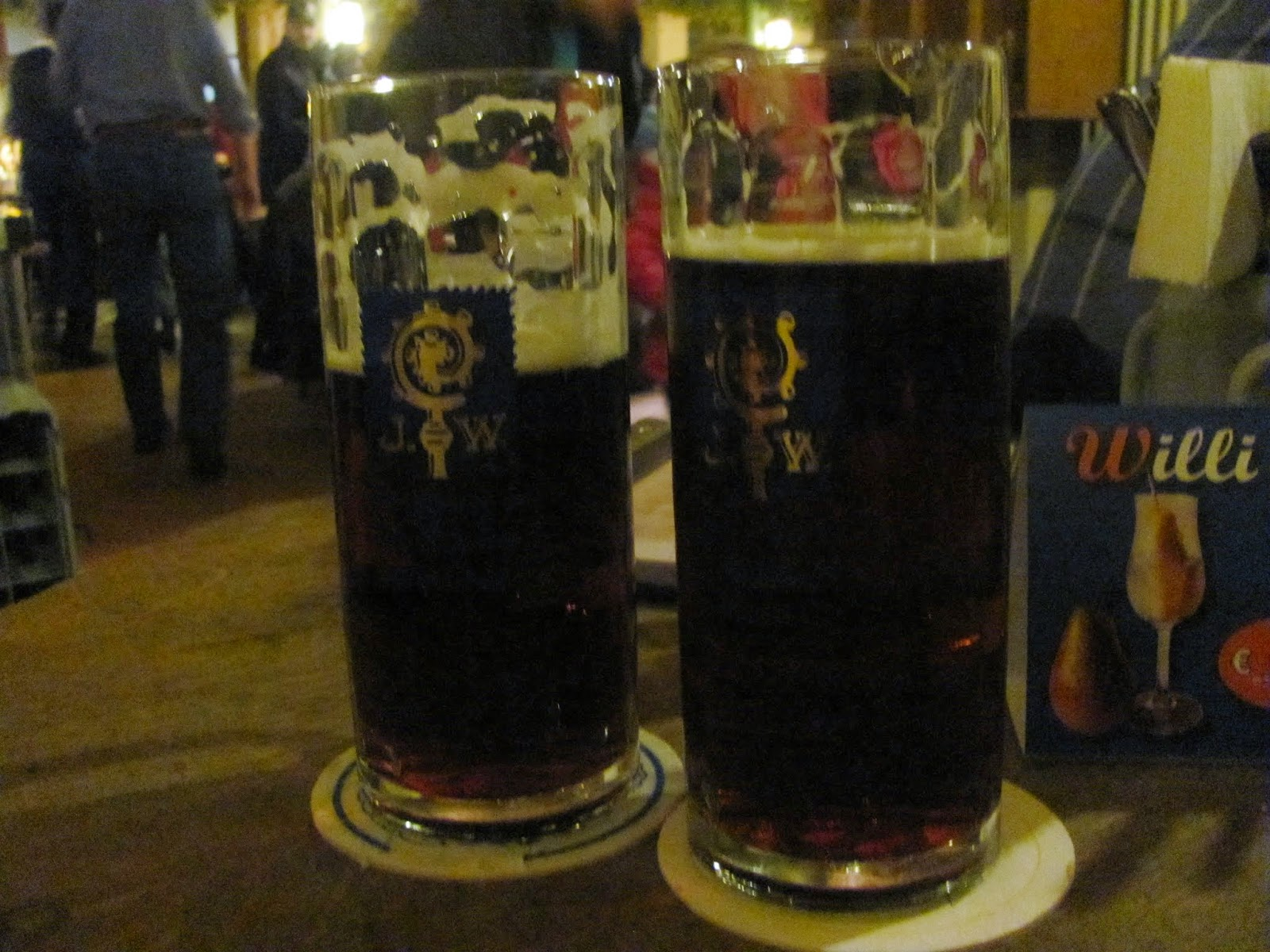 Augustiner Dunkels at Augustiner Beer Hall Munich
