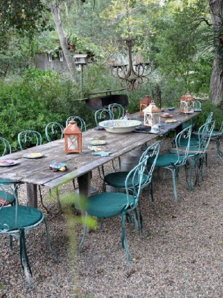Two Men And A Little Farm INSPIRATION THURSDAY OUTDOOR DINING TABLE