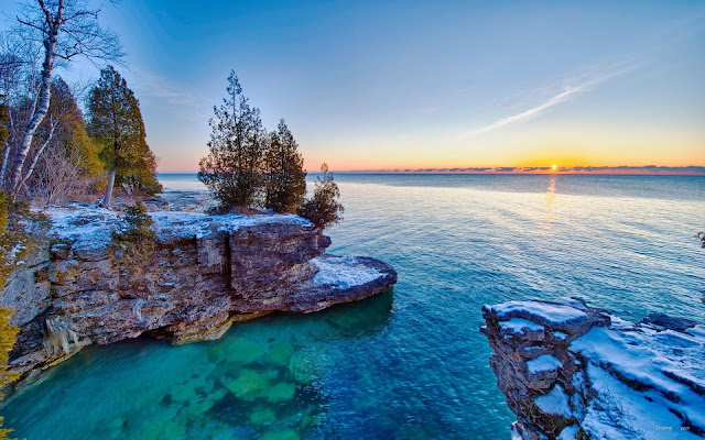 Hermoso Amanecer Frente al Lago Michigan - Imagenes de Lagos Gratis
