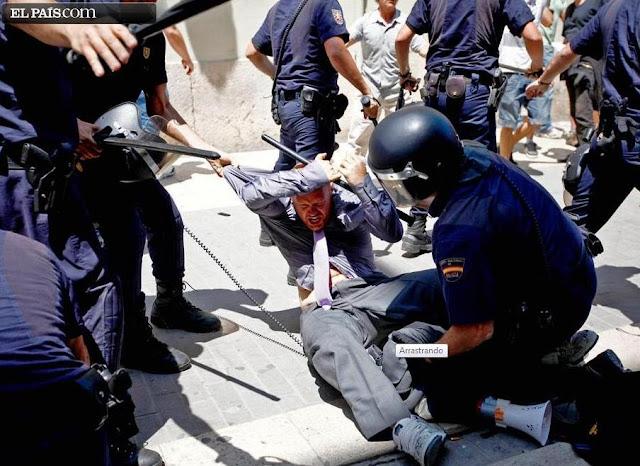 Protestos - Espanha: VÁRIOS FERIDOS E CINCO DETIDOS EM CARGA POLICIAL EM VALÊNCIA