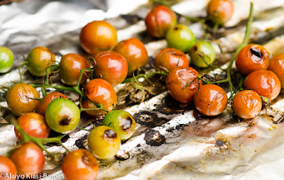 Cherry Tomatoes on Grill--Pescetarian Journal