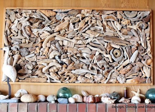 drift wood wall art collage