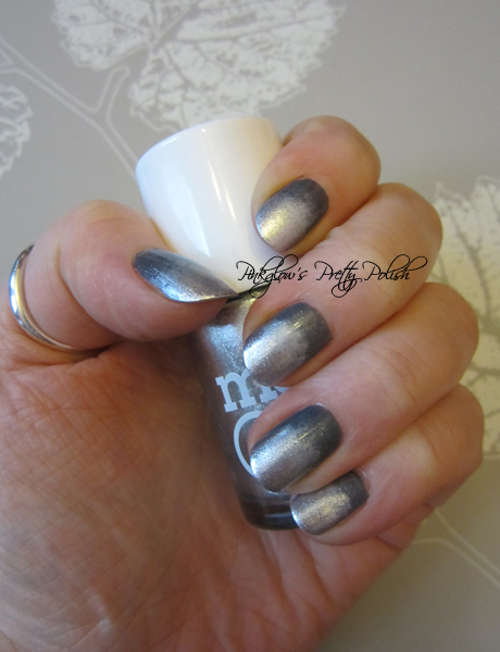 Silver Sparkle Nails