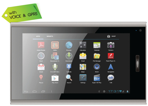 Android 4.0 tablet, android tablet with voice call feature, specifications of Micromax Funbook Talk P350,  Funbook Talk P350