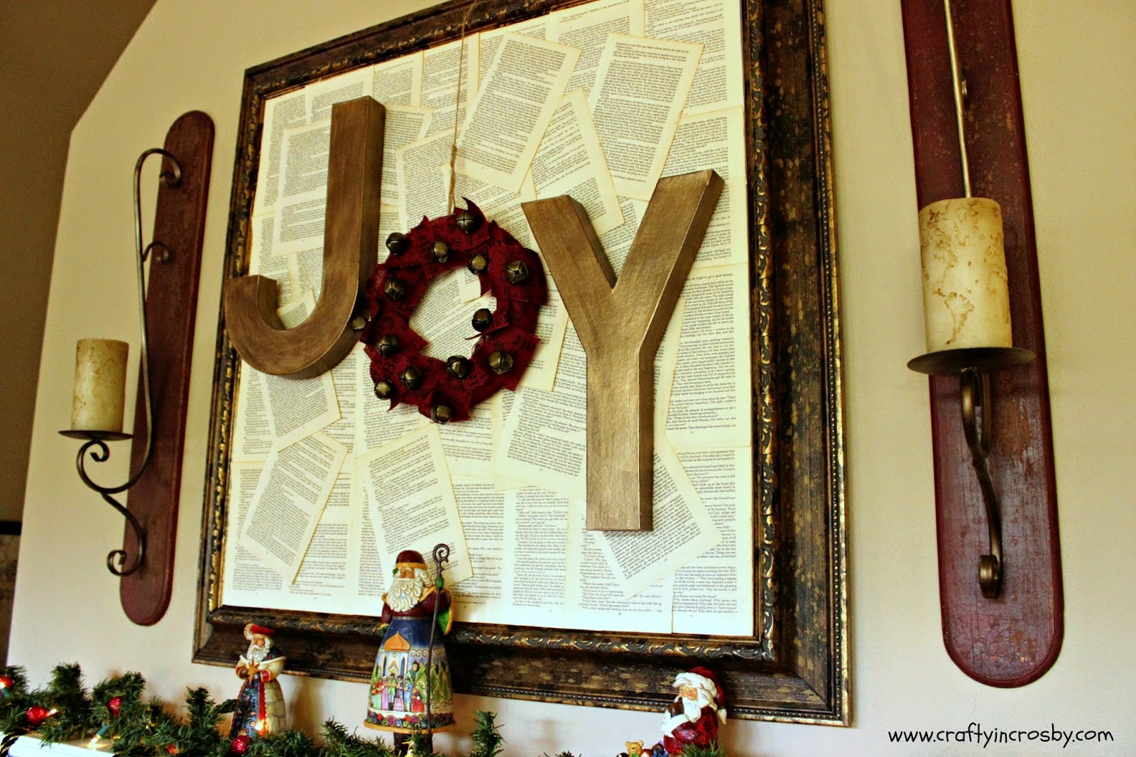 Joy, Hobby Lobby, Christmas Mantel, Christmas DIY, Joy Sign
