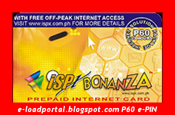 isp bonanza prepaid internet card 60 e pin - Prepaid Internet Card
