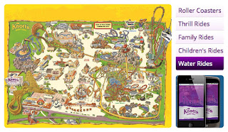 Knott's Berry Farm Pony Map Smartphone App