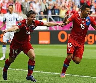 اهداف مباراة التشيك واليونان 2-1 في بطولة اليورو 12-6-2012