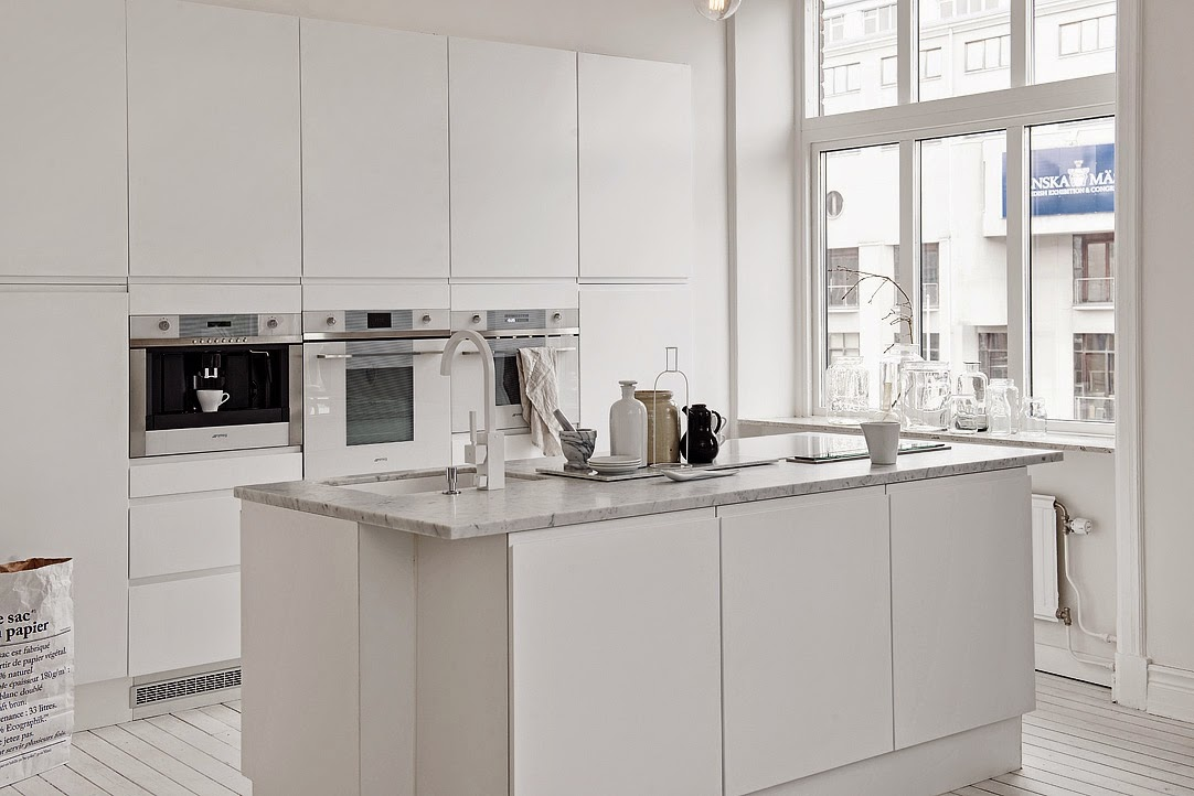 Scandinavian interior design, Scandinavian white kitchen, aloveforgrey blog