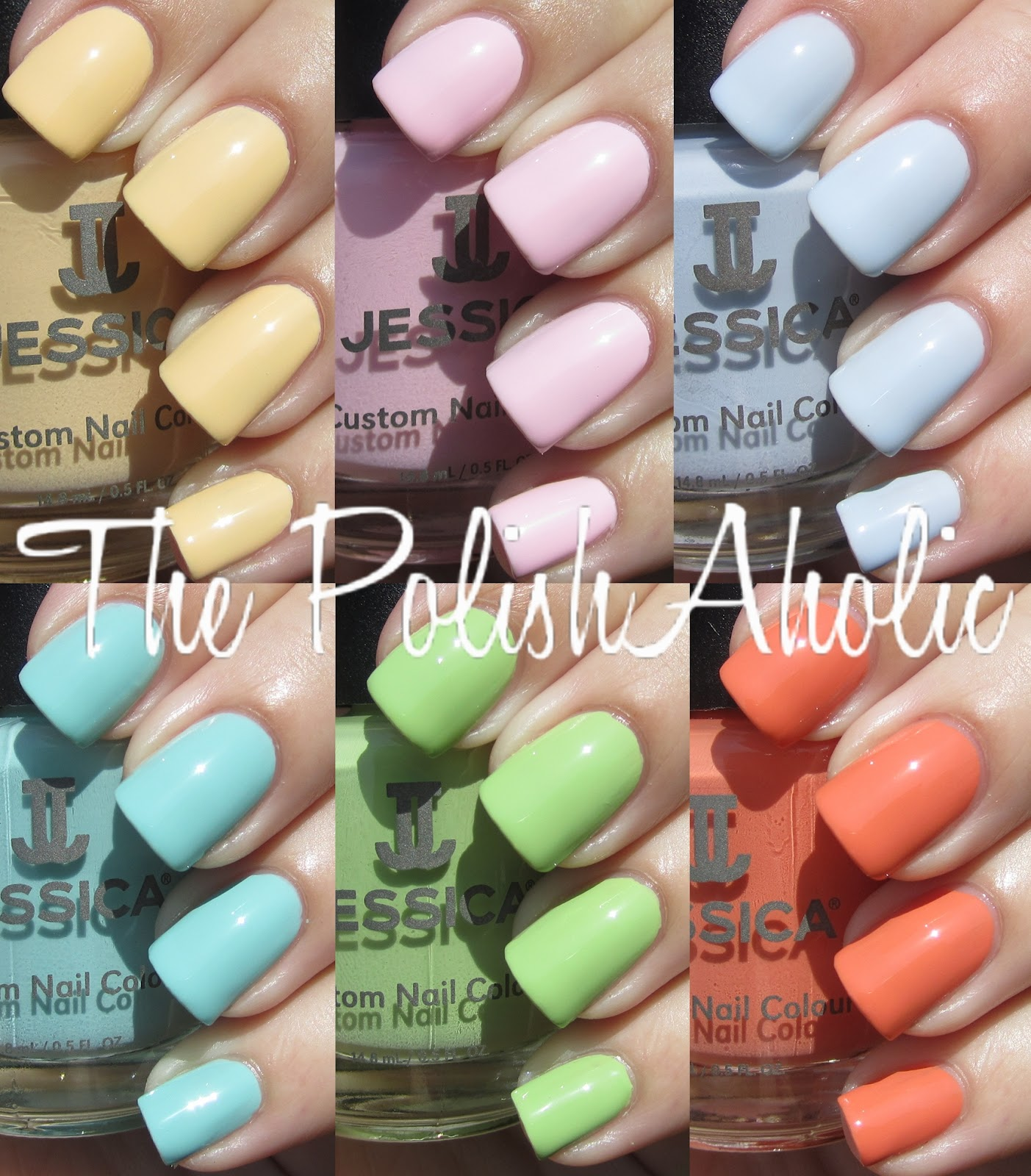 The PolishAholic Jessica Summer 2012 Gelato Mio Collection Swatches